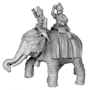 ANC20132 - Hellenistic Elephant, with 2 crew, Pike Astride Left